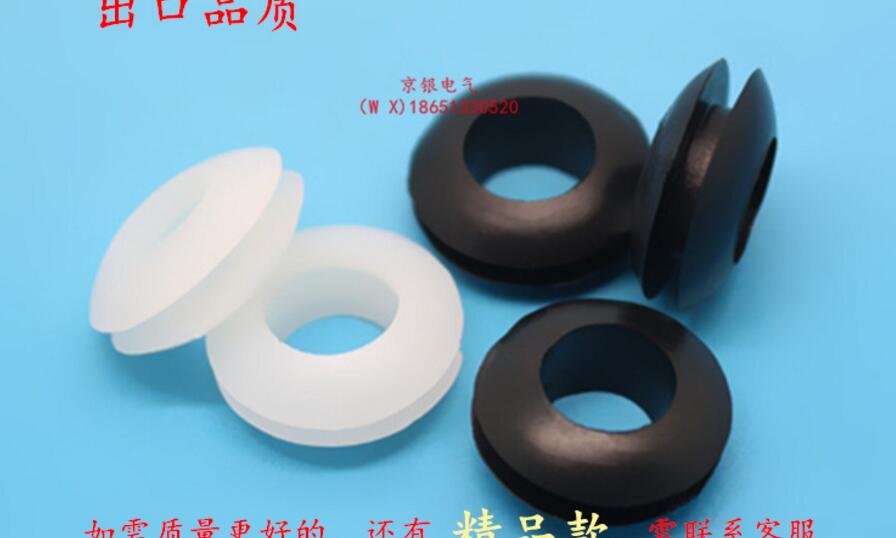 us $3 68 8% off 100 pcs 3 4 5 6 8 10 12 14 16 18 20mm inner diameter black white cable wiring rubber grommets gasket ring in gaskets from home cable wall grommet 20pcs rubber wiring grommets ring cable