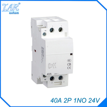 auxiliar de partida  40A 2P 24V 1NO 50 or 60HZ Din rail Household AC Contactor rated current 40a 3poles 1 nc 1no 48vac coil voltage ac contactor motor starter relay din rail mount