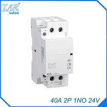 auxiliar de partida  40A 2P 24V 1NO 50 or 60HZ Din rail Household AC Contactor
