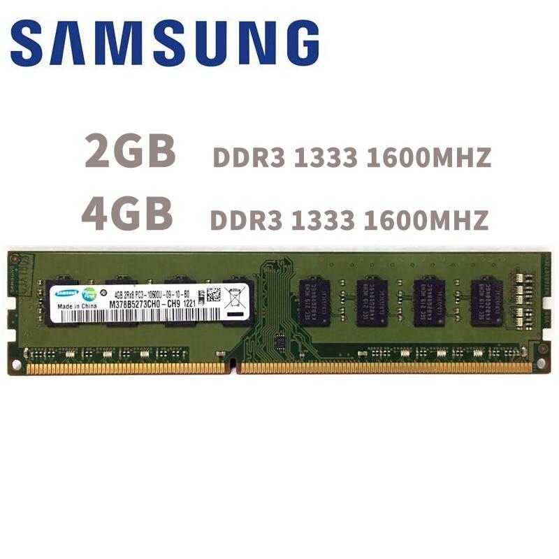 Samsung PC Mémoire RAM Memoria Module Ordinateur De Bureau 2 gb 4 gb DDR3 PC3 10600 12800 1333 mhz 1600 mhz 2g 4g 1333 1600 mhz RAM
