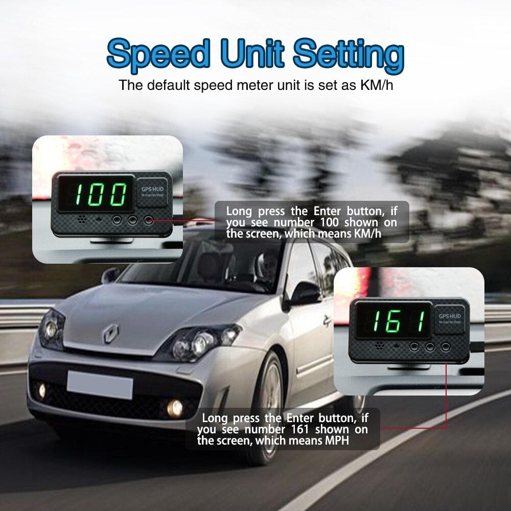 Image 3 - Универсальный Hud gps измеритель скорости дисплей скорости автомобиля с сигнализацией скорости MPH км/ч для всех автомобилей A100 обновление-in Проекционный дисплей from Автомобили и мотоциклы on AliExpress - 11.11_Double 11_Singles' Day