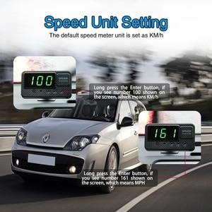 Image 3 - Universal Hud Gps Snelheidsmeter Head Up Display Auto Snelheid Display Met Over Snelheid Alarm Mph Km/H Voor Alle voertuig A100 Upgrade