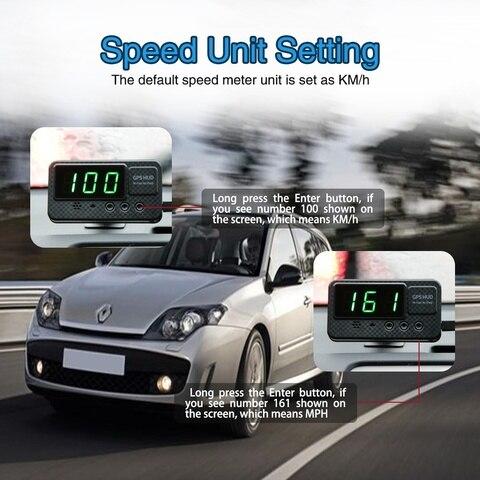 aviso de excesso de velocidade display hud km h mph brisa