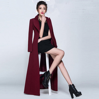 2017 Winter New Arrive High Quality Women Thin Cashmere Wool Warm Trench Noble Sashes Slim Long