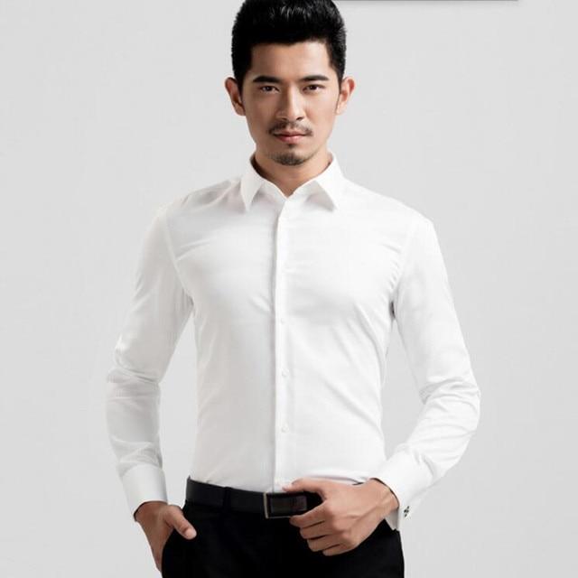 Neuesten männer hochzeit reine farbe langarm shirt von herrenhemden ...