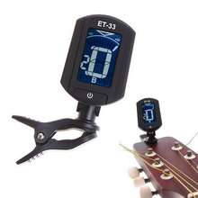 ET33 Portable Guitar Tuner Color Screen Digital Tuner Clip On Design for Chromatic Guitar Bass Ukulele Violin free shipping