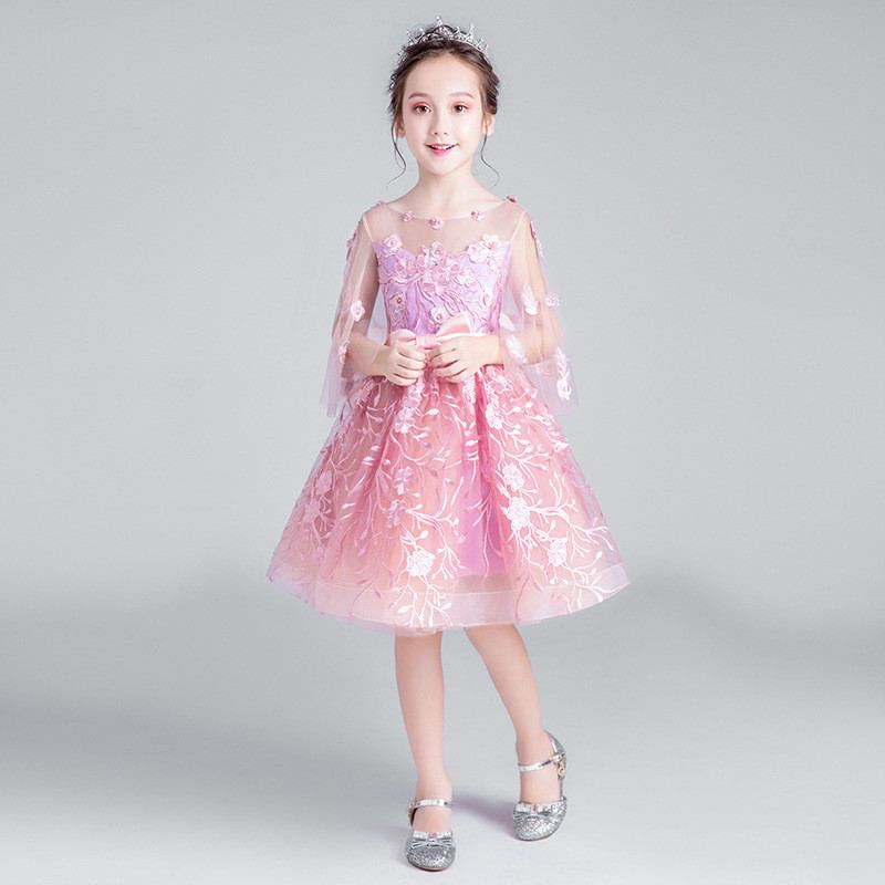 2019 Kids Girl Pearls Bow Wedding Birthday Party Dress Children Pageant Mesh Ball Gown Teen Girl Elegant Princess Vestido Q592019 Kids Girl Pearls Bow Wedding Birthday Party Dress Children Pageant Mesh Ball Gown Teen Girl Elegant Princess Vestido Q59