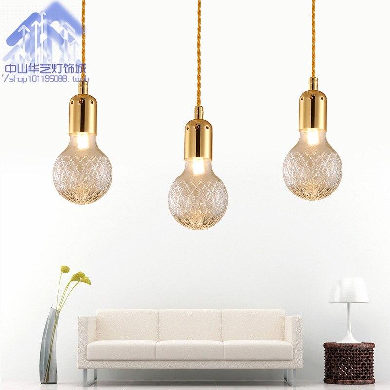 Здесь продается  modern crystal glass pendant light personalized hotel aisle villa coffee shop single head droplight  Свет и освещение