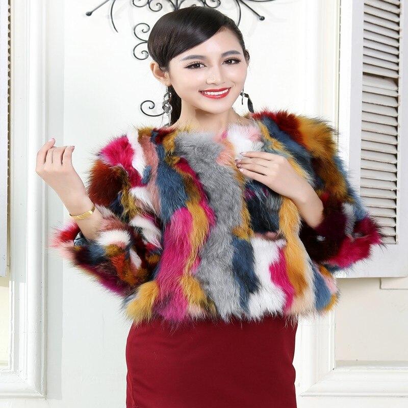 Multicolore Manteau Quarts Véritable Trois Fourrure Réel Conception De Survêtement Femmes Raton Laveur 2015 Normal Courte Manches Femelle Mode 0qpwxH