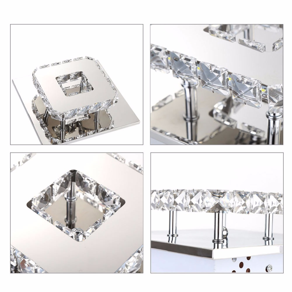 Crystal Chandelier | Crystal Light | Ceiling Lights Indoor Crystal Lighting LED Luminaria Abajur Modern LED Ceiling Lamp For Living Dining Bed Room Home Decoration Power 12W