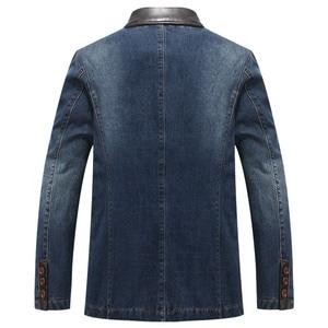 Image 2 - YIHUAHOO Casual Denim แจ็คเก็ตผู้ชายผ้าฝ้ายเสื้อ 3XL 4XL ชายเสื้อผ้าสไตล์ฤดูใบไม้ผลิฤดูใบไม้ร่วง Blazer เสื้อแจ็คเก็ตผู้ชาย