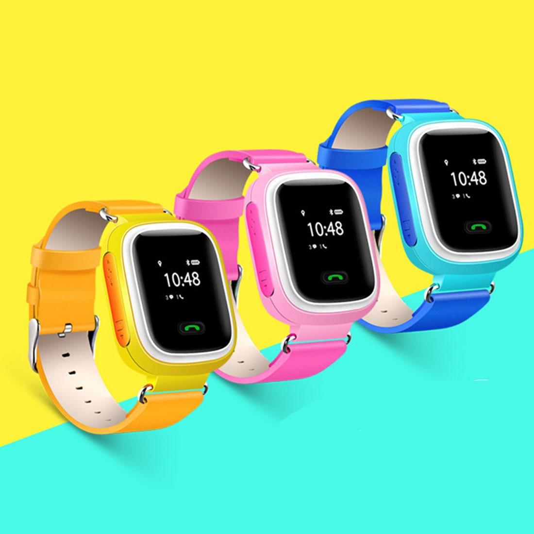 Safe Kid GPS Smart Watches Phone Wristwatch SOS Call GSM Locator Map Tracker