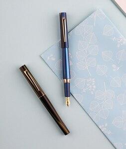 Image 2 - Перьевая ручка Moonman N3 Celluloid, акриловая ручка с красивыми полосками, перьевая ручка Iridium EF/F, Отличная офисная ручка для письма, подарочная ручка с чернилами