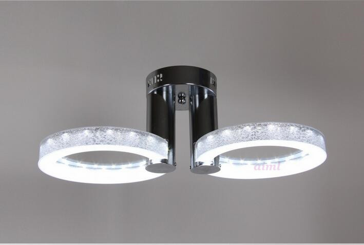 Silver LED 9W Acrylic Ceiling Light with 2 lights Chrome Finish)Size:65*65*20CM 85-265V 9w led ceiling lights acrylic with 2 lights chrome finish yellow
