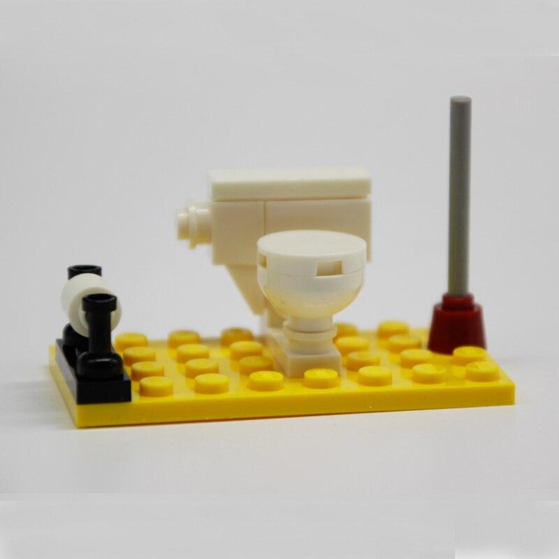 Moc Diy Toilet Bathroom Bricks