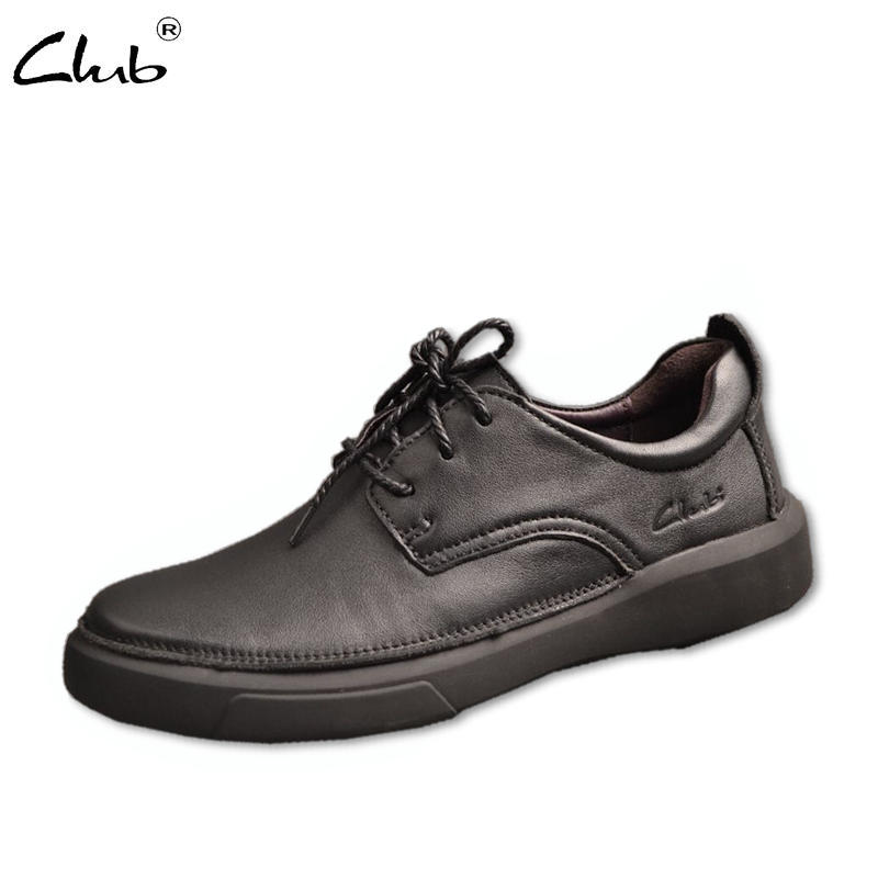 Club Men Shoes Genuine Leather Lace-up Mens Casual Shoes Luxury Brand Cow Leather Mens Designer Shoes Loafers Mocasines Hombre dxkzmcm high quality genuine cow leather men oxfords shoes bullock men loafers mocasines hombre brand men flats