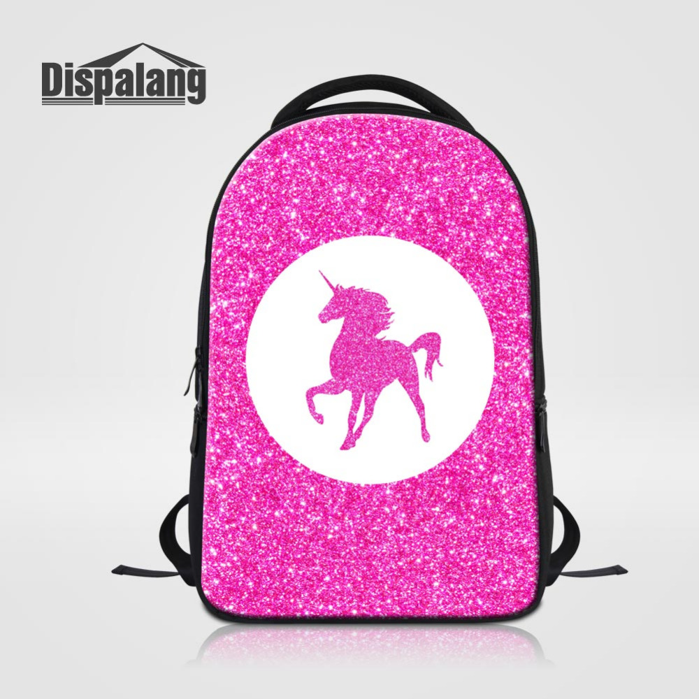 Dispalang Pink School Bags for Teenagers Unicorn College BookBag Oxford Travel Bag Laptop Backpack Kids Schoolbag Bolsas Mochila large capacity waterproof oxford backpack unisex students backpack school bags for teenagers laptop backpack women travel bag