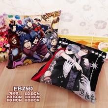 Textile Two sided Square Throw Pillow Cover Cases Anime Black Butler kuroshitsuji Sebastian Michaelis Ciel Dakimakura недорого