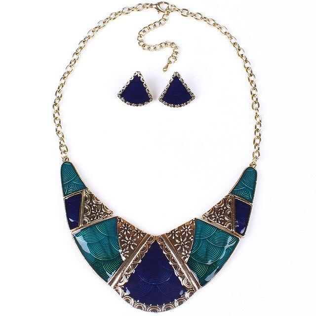 Jewelry Set Vintage Enamel...