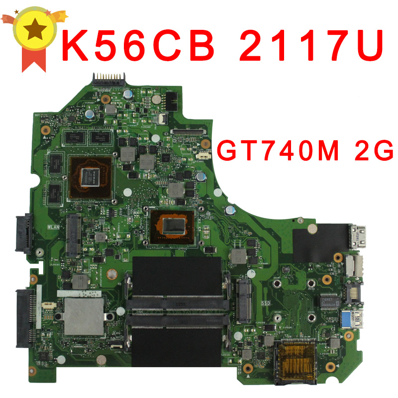 Hot selling for ASUS K56CB motherboard K56CM Rev 2 0 Intel 2117 CPU 2GB PM GT740M