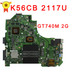 Hot selling for ASUS K56CB motherboard K56CM Rev 2.0  Intel 2117 CPU 2GB PM GT740M Fully Tested Main Board