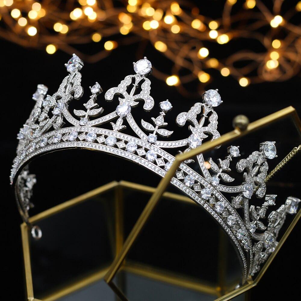 Accesorios de la novia de la Corona de Thiago de cristal del Rin de moda de lujo A00182-in Joyería para el cabello from Joyería y accesorios    1