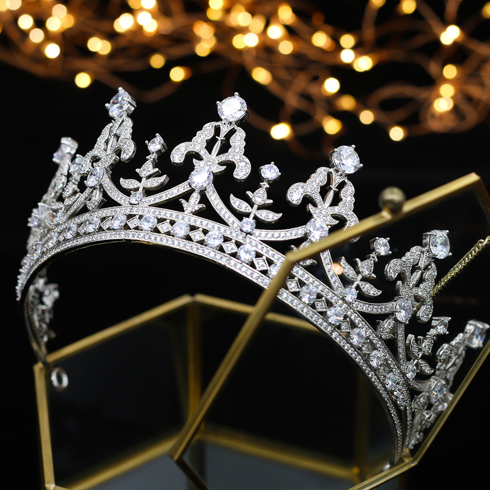 Luxury fashion all Rhine crystal Thiago Crown Wedding Bride Crown Bride Accessories A00182-in Hair Jewelry from Jewelry & Accessories    1