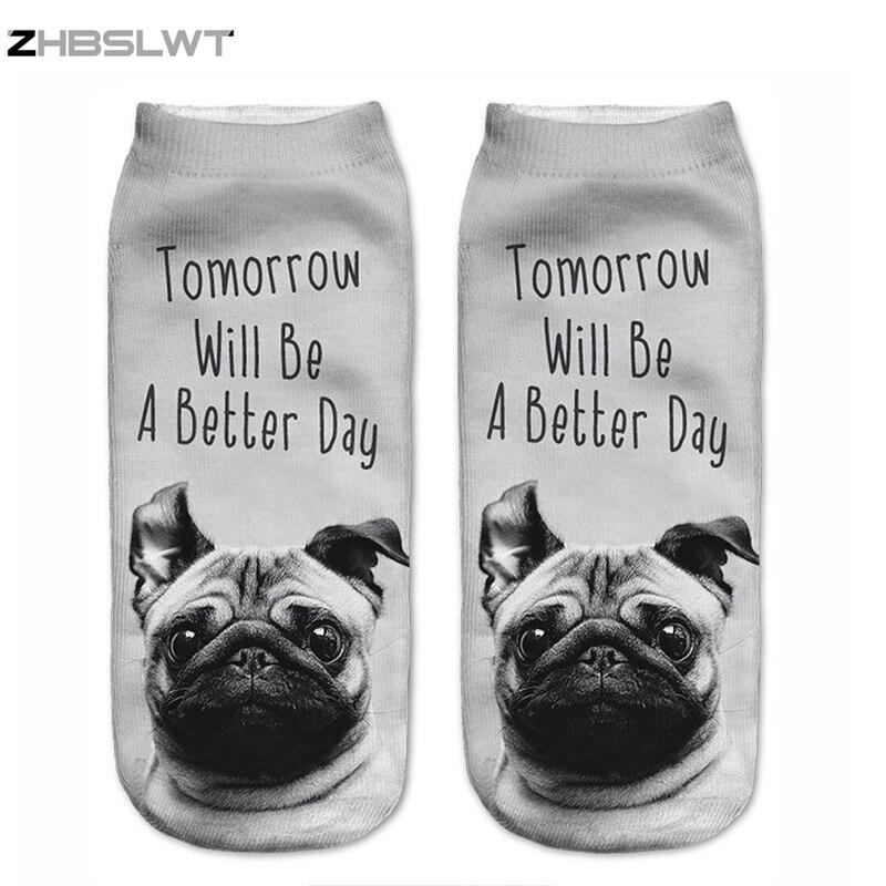 ZHBSLWT New 3D Printed Dog Tomorrow Day Womens