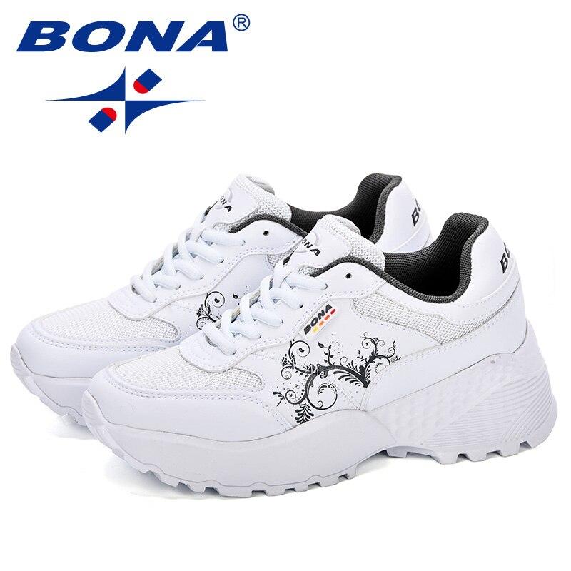 BONA New Designer Woman CasualShoes Breathable Sneakers Women New Arrivals Fashion Platform Ladies Shoes Comfortable Trendy 5