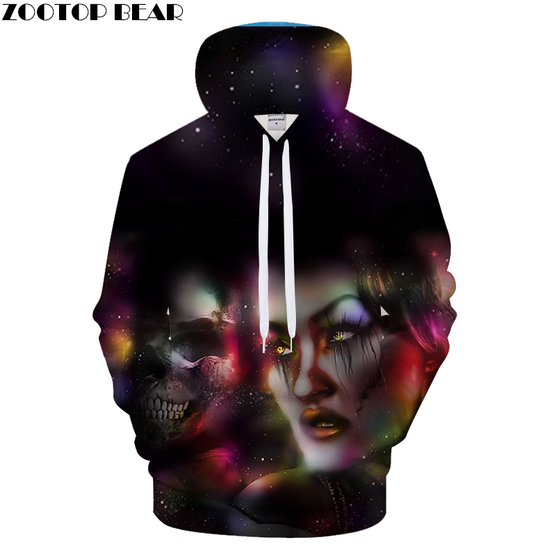 Skull&Beauty 3D Print Hoodies Men Women Casual Sweatshirt&Tracksuit Pullover Jacket Hooded Coat Streatwear Drop Ship ZOOTOPBEAR