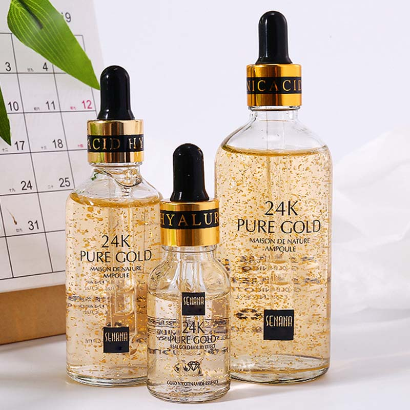 24K Gold Anti Wrinkle Essence Liquid Moisturizing Anti Aging Skin Care MH88 image