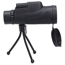 Best price 12×50 Zoom Optical Monocular Telescope Lens Phone Camera Lens + Tripod For Mobile Phones Outdoor Hiking Concert Telescope
