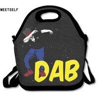 3D Print Dab Dance Lunch Bags Insulated Waterproof Food Girl Packages Womens Kids Babys Boys Handbags