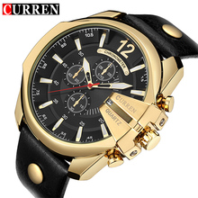 CURREN hombres Deportes de Cuarzo Reloj de Los Hombres de Primeras Marcas de Lujo Diseñador Relogio masculino Reloj Hombre Cuarzo Reloj de Moda masculina de Oro fecha