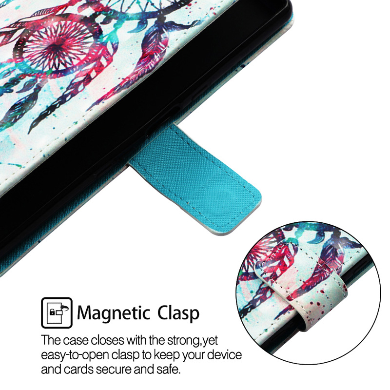 Patterned PU  Leather Soft TPU Flip Wallet Case sfor  Samsung Galaxy M10 Case Mobile Phone Bag For Samsung M20 Cover Case