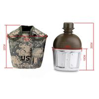 1L Water Bottle Portable Army Style Patrol Water Bottle Canteen Sport Camping Travel Hiking Supplies With