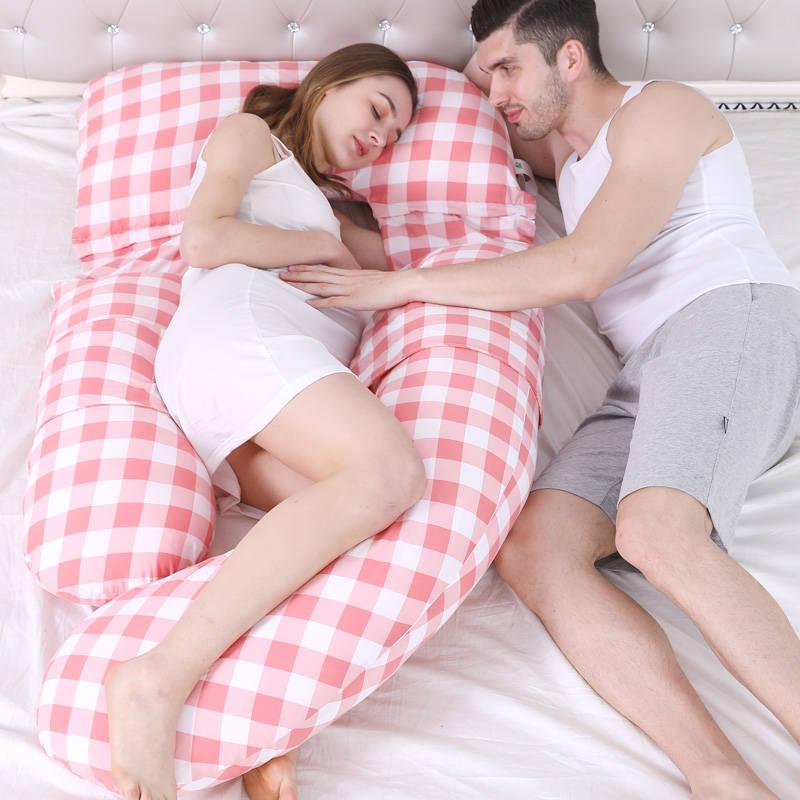 Comfortable Pregnant Women Nursing Pillow Side Sleeping U Shape Maternity Pillow Pregnancy Body Pillow Waist Support Almohada