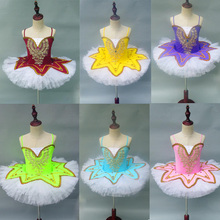 Girls Gymnastic Leotard Ballet Dancing Dress White Swan Lake Costume Ballerina Dress Kids Ballet Dress Children Ballet Tutu Suit