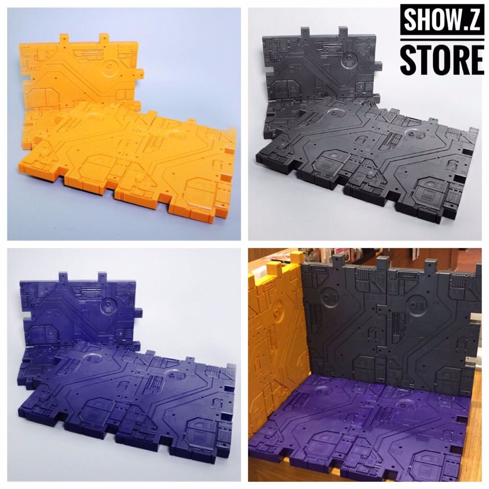 [Show.Z Store] Magic Scenery Display Bases 4 Pieces (Grey, Purple, Yellow) Transformation Action Figure