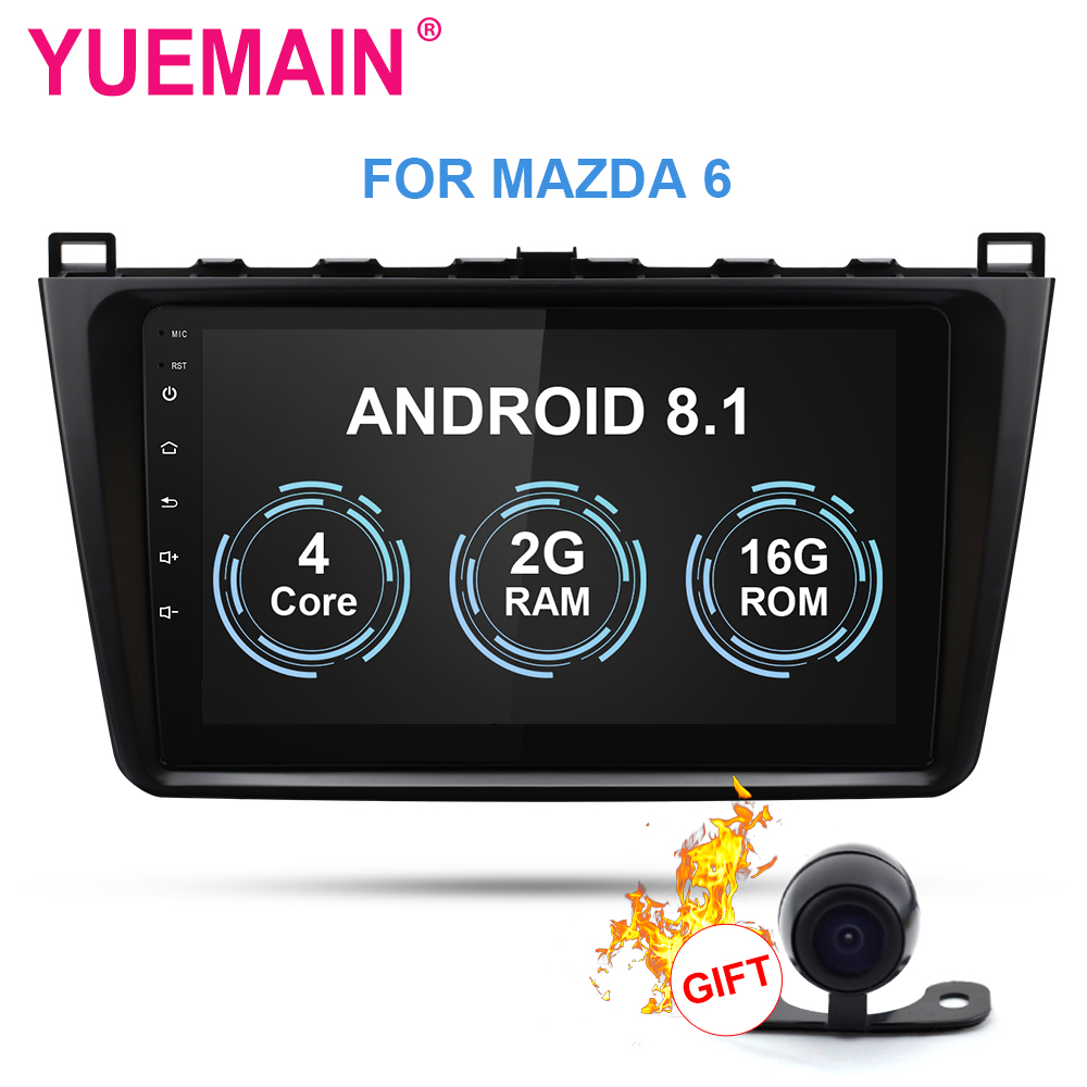 YUEMAIN Car radio Multimedia player For Mazda 6 2008-2015  Android 8.1 Autoradio GPS Navigation video FM/AM USB DVR Camera OBD YUEMAIN Car radio Multimedia player For Mazda 6 2008-2015  Android 8.1 Autoradio GPS Navigation video FM/AM USB DVR Camera OBD