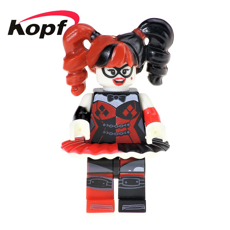 Super Heroes Harley Quinn in Puff Ballet Skirt Commissioner Gorden Riddler Batman Movie Building Blocks Toys for children PG167 super heroes riddler scarecrow two face bruce wayne batman penguin aaron cash harley quinn mime building blocks kids toys kf1041