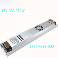 Power Supply 12V 20A 250W Ultra Thin Switching Power Supply 12 Volt LED Electronic Transformer For LED Strip Light Box