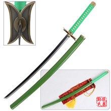 Free Shipping Bleach Anime Neliel Tu Light Green Zankaputo Sword Gamuza Steel Katana Christmas Decorative Cosplay Props