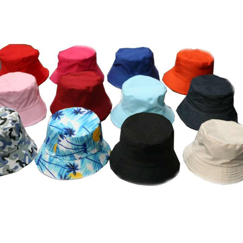 6331a6a6a8e71a FASHION Hunting Boonie Bucket Hat Unisex Fishing Polyester Holiday Simple  Travel Men Women Visor Camping Summer