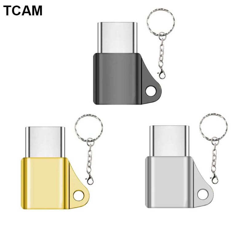 Home Usb C 3.1 Type C Male To Micro Usb Female Converter Connector Keychain For Phone Strengthening Waist And Sinews