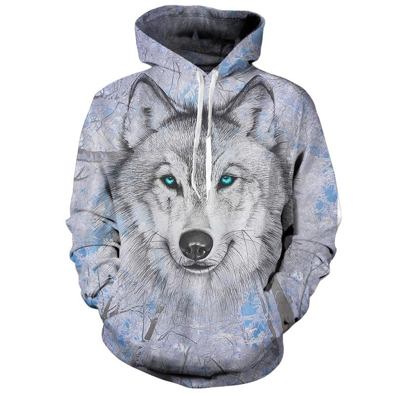 Lively Wolf Hoodies Streetwear Sweatshirt Casual Hoody Men 3D Pullover Harajuku Tracksuit Male HipHop DropShip in Hoodies amp Sweatshirts from Men 39 s Clothing