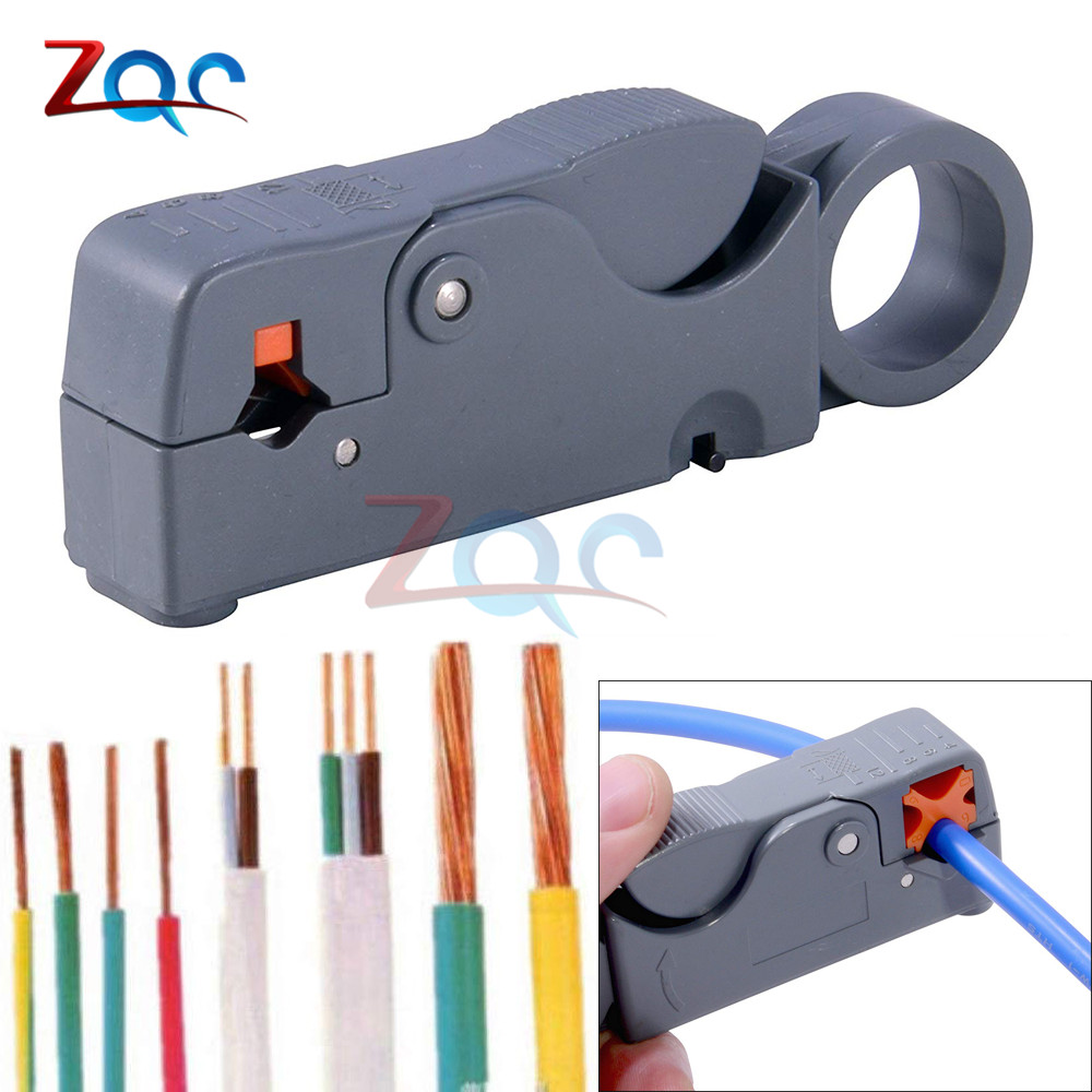 Adjustable Double Blades RG58//59 Wire Stripper Automatic Cable Cutter Pliers