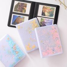 32/64 Photos Quicksand Sequin PVC Photo Book Album for Instant Polaroid Fujifilm Instax Mini Film Set Nice Gift Case