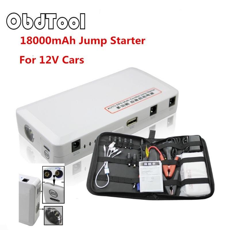2018 auto Starthilfe 18000 mAh Auto Motor EPS Notfall Ladegerät Batterie Quelle Laptop Portable Lade Mobile Strom Banken