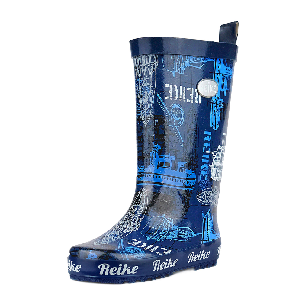 Boots Reike RRR19-023 WSM navy shoes for boys and girls childrens rubber boot saint seiya cosplay shoes boots anime shoes for adult men s halloween cosplay accessories custom made